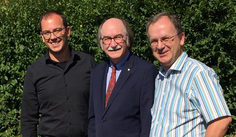 Unterstützen die erneute Kandidatur von Lauterbachs Bürgermeister Rainer-Hans Vollmöller (Mitte): CDU-Fraktionsvorsitzender Felix Wohlfahrt und CDU-Stadtverbandsvorsitzender Uwe Meyer (rechts)