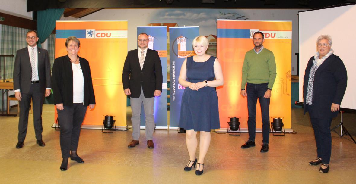 Haben sich für die nächsten fünf Jahre viel vorgenommen: Die Spitzenkandidaten der Lauterbacher CDU (v.l.) Felix Wohlfahrt, Patricia Hammerl-Schönhals, Gunther Sachs, Jennifer Gießler, Holger Marx und Marlene Aschenbach