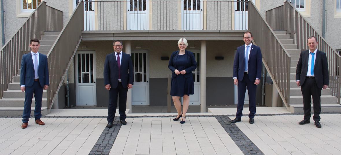 Der komplettierte Fraktionsvorstand der Lauterbacher CDU mit (von links): Joshua Östreich, Ismet Tosun, Jennifer Gießler, Felix Wohlfahrt und Uwe Meyer.